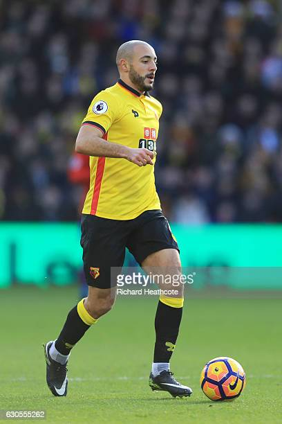 Nordin Amrabat of Watford in action during the Premier League match between Watford and Crystal Palace at Vicarage Road on December 26 2016 in...