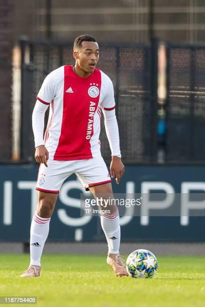 Nordin Musampa of Ajax Amsterdam U19 controls the ball during the UEFA Youth League match between Ajax Amsterdam U19 and FC Valencia U19 on December...