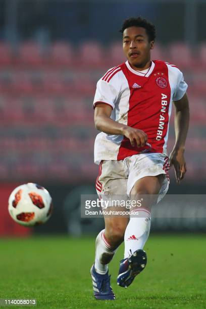 Nordin Musampa of Ajax in action during the YOUTH CUP U19 between Ajax U19 and Excelsior U19 at Sportpark De Toekomst Johan Cruyff Arena on April 02...