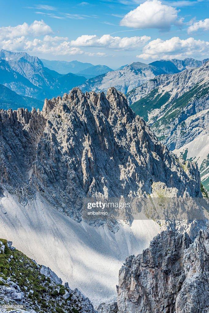 Montaña Nordkette en Tyrol, Innsbruck, Austria. : Foto de stock