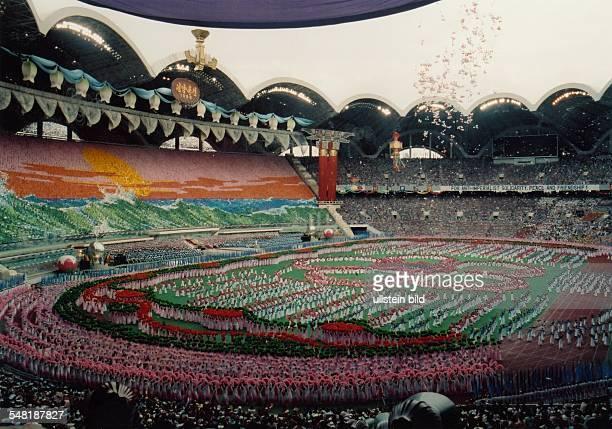 Nordkorea Pjöngjang Eröffnungsveranstaltung der Weltfestspiele der Jugend und Studenten im Olympiastadion 1989