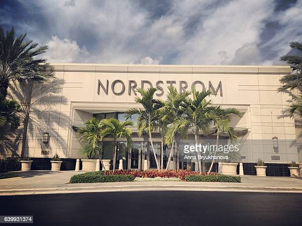 nordstrom department store in aventura mall, florida, usa - aventura florida stock photos and pictures