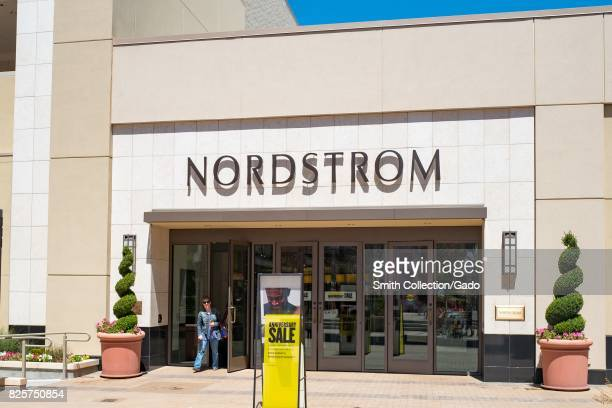 Nordstrom department store with logo and signage in the upscale Broadway Plaza shopping center in downtown Walnut Creek California July 30 2017