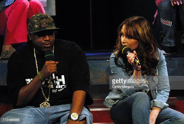 Noreaga and Angie Martinez during Angie Martinez Noreaga and Halifax Visit Fuse's Daily Download April 11 2005 at Fuse Studios in New York City New...