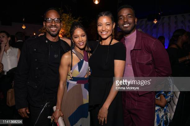 """Noree Victoria, Tina Gordon and Luke James attend the after party for the premiere of Universal Pictures' """"Little"""" on April 08, 2019 in Los Angeles,..."""