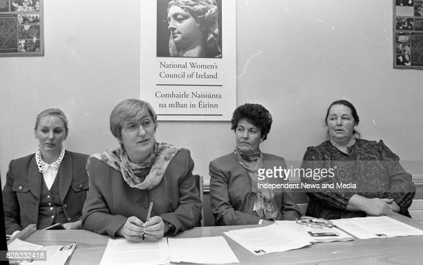 Noreen Byrne, Chairwoman of the National Women's Council of Ireland Speaking at their News Conference to endorse a Yes Vote in the Divorce...