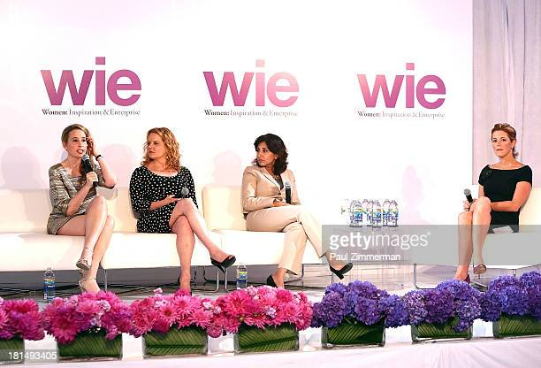 Noreena Hertz, Beth Swofford, Neera Tanden and Stephanie Ruhle attend the 4th Annual WIE Symposium at Center 548 on September 21, 2013 in New York...