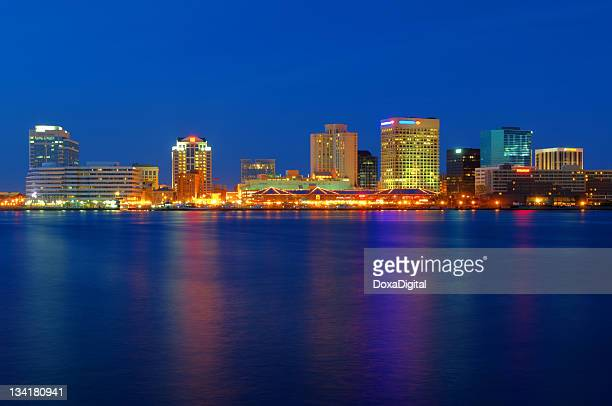 norfolk cityscape / skyline - norfolk virginia stock photos and pictures