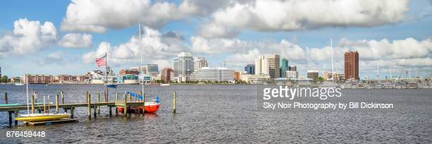 norfolk on the elizabeth river - norfolk virginia stock photos and pictures