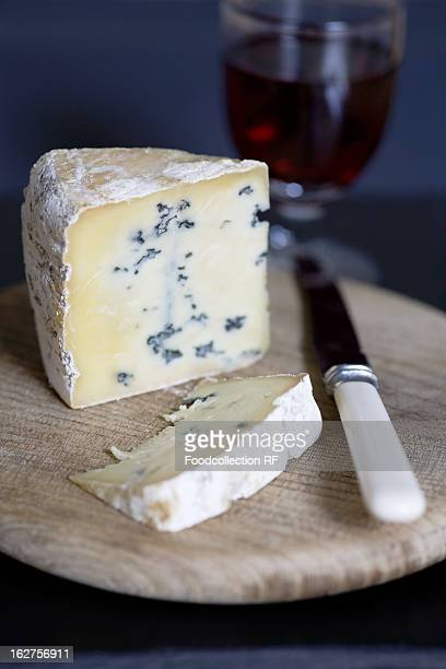 UK, Norfolk, Piece of blue cheese (type: Mrs Temple's Binham Blue