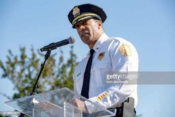 Norfolk Police Chief Larry D Boone proposes specific measures to unite area communities when speaking at the City Collective Prayer March on June 7...