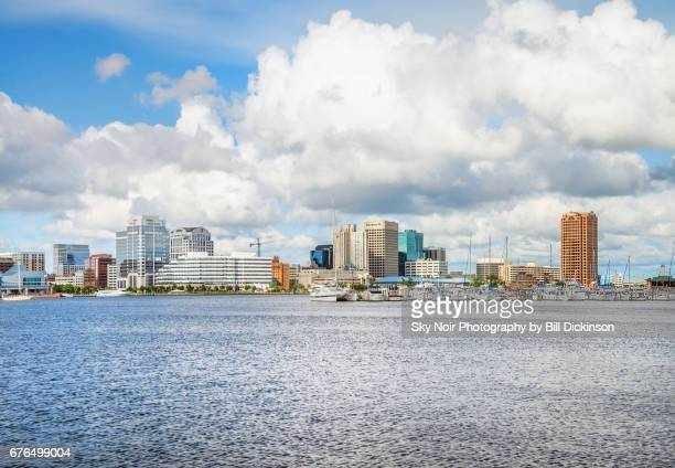 norfolk skyline - norfolk virginia stock pictures, royalty-free photos & images