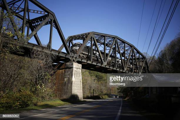 A Norfolk Southern Corp coal train crosses a bridge in Elkhorn West Virginia US on Thursday Oct 19 2017 Norfolk Southern Corp is scheduled to release...