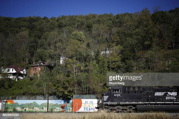 A Norfolk Southern Corp coal train passes through Northfork West Virginia US on Thursday Oct 19 2017 Norfolk Southern Corp is scheduled to release...