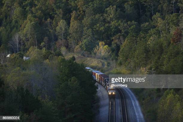 A Norfolk Southern Corp freight train passes through Tateville Kentucky US on Tuesday Oct 17 2017 Norfolk Southern Corp is scheduled to release...