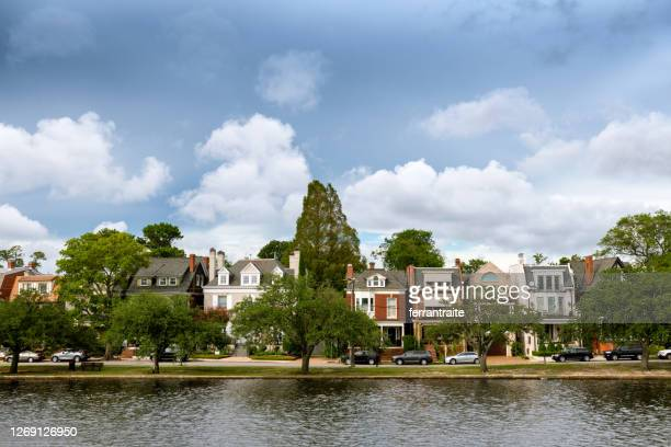 norfolk virginia cityscapes, ghent historic district - norfolk virginia stock pictures, royalty-free photos & images