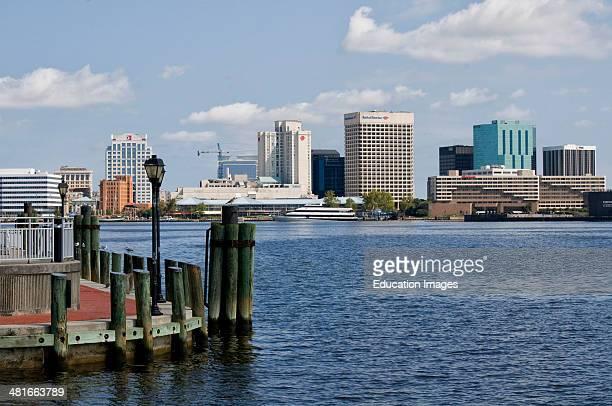 Norfolk Virginia skyline from Portsmouth Virginia