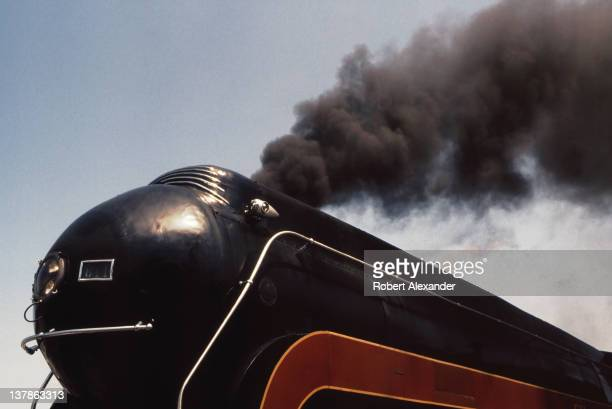 Norfolk & Western Railway's No. 611 steam-powered locomotive prepares to depart on a sightseeing steam train excursion in 1992, from Bristol,...