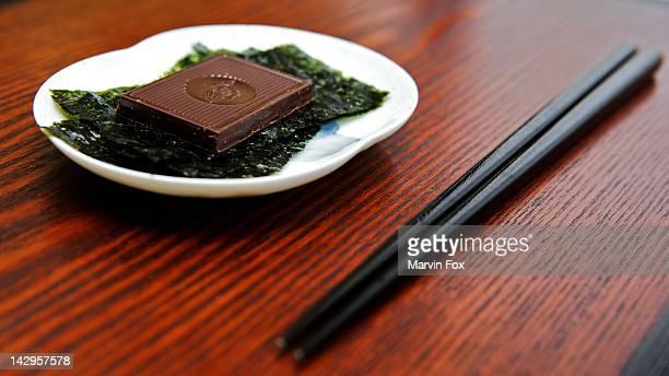 Nori flavored dark chocolate