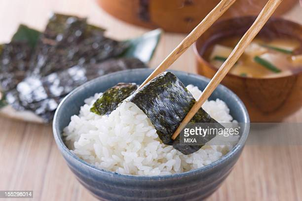 Nori on Steamed Rice