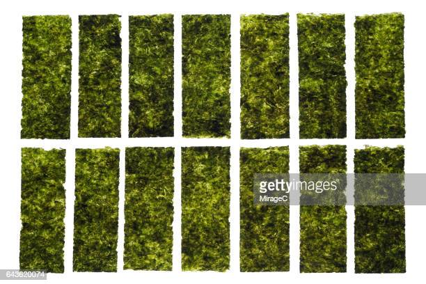 nori seaweed sheets - nori stock pictures, royalty-free photos & images