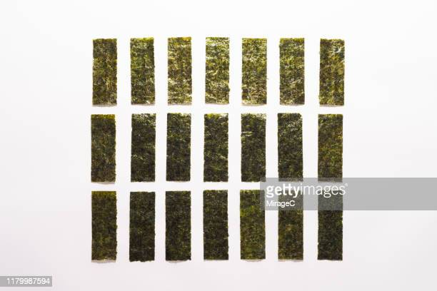 nori seaweed thin sheets - nori stock pictures, royalty-free photos & images