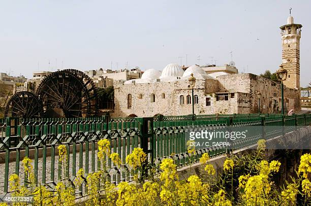 Noria on the Orontes River and the Azem Palace Hama Syria