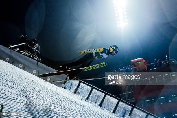 Noriaki Kasai competes in the FIS Ski Jumping World Cup Large Hill Individual Competition at the Lahti Ski Games in Lahti Finland on 10 February 2019