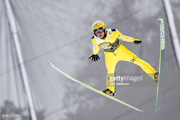 Noriaki Kasai of Japan competes during day 1 of the FIS Ski Jumping World Cup at Planica on March 17, 2016 in Planica, Slovenia. It's Noriaki Kasai's...