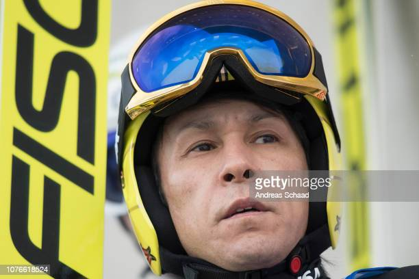 Noriaki Kasai of Japan competes during the 67th FIS Nordic World Cup Four Hills Tournament training on January 03 2019 in Innsbruck Austria