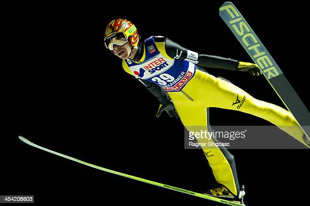 Noriaki Kasai of Japan competes during the FIS Ski Jumping World Cup Men's HS138 on December 7 2013 in Lillehammer Norway