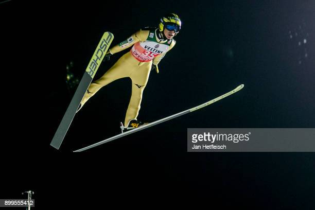 Noriaki Kasai of Japan competes during the qualification round for the Four Hills Tournament on December 29 2017 in Oberstdorf Germany