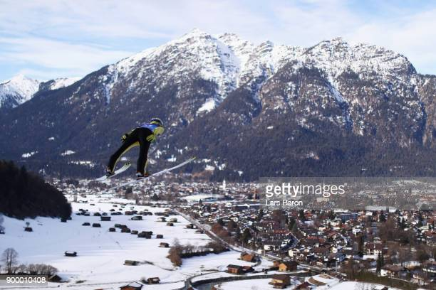 Noriaki Kasai of Japan competes in the FIS Nordic World Cup Four Hills Tournament on December 31 2017 in GarmischPartenkirchen Germany