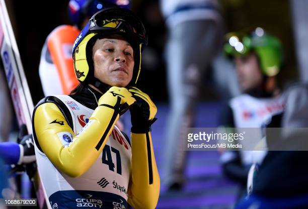Noriaki Kasai of Japan during the Ski Jumping Men's HS134 Individual Qualification on November 16 2018 in Wisla Poland