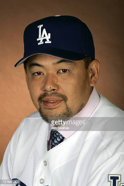 Norihiro Nakamura during Dodgers Spring Training Headshots February 27 2005 at Dodger Stadium in Vero Beach Florida United States