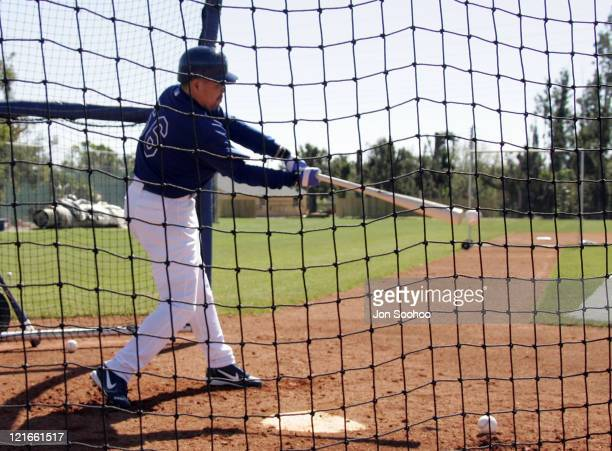 Norihiro Nakamura of Japan during workout at Dodgertown in Vero Beach Florida on Wednesday March 2 2005