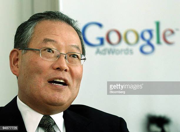 Norio Murakami, president of Google Japan Inc., speaks to reporters during an interview in Tokyo, Japan, on Thursday, March. 28, 2007. Google Inc.,...
