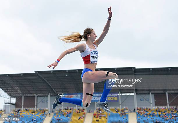 Norka Moretic of Chile competes in women's triple jump during the IAAF World U20 Championships at the Zawisza Stadium on July 23 2016 in Bydgoszcz...