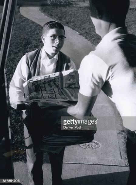 Norm Larkin's day as a carrier boy for The Denver Post begins about 4 pm weekdays when Jim Evans Norm's district adviser delivers papers for a boy's...