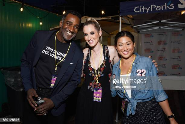 Norm Lewis Ingrid Michaelson and Jenna Ushkowitz attend Elsie Fest at Central Park SummerStage on October 8 2017 in New York City