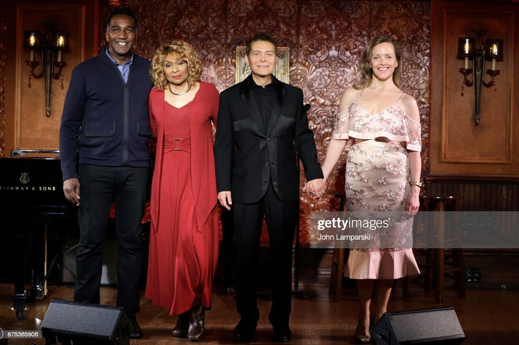 Norm Lewis, Vivian Reed, Michael Feinstein and Alice Ripley pose during Feinstein's/54 Below Press Preview at Feinstein's/54 Below on November 17, 2017 in New York City.