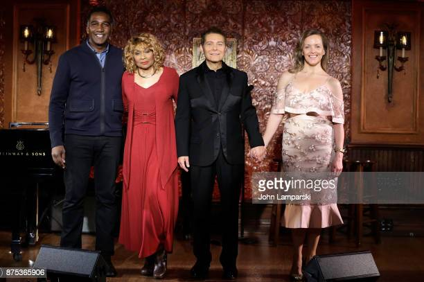 Norm Lewis, Vivian Reed, Michael Feinstein and Alice Ripley pose during Feinstein's/54 Below Press Preview at Feinstein's/54 Below on November 17,...