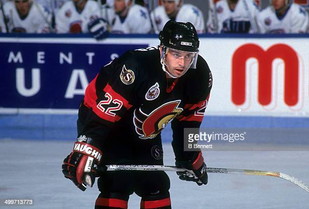 Norm Maciver of the Ottawa Senators skates on the ice during an NHL game against the Quebec Nordique on October 10 1992 at the Quebec Coliseum in...