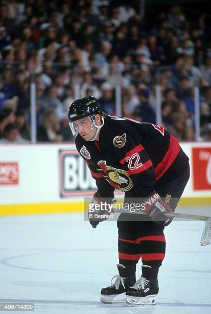 Norm Maciver of the Ottawa Senators skates on the ice during an NHL game against the Tampa Bay Lightning on November 13 1992 at the Expo Hall in...