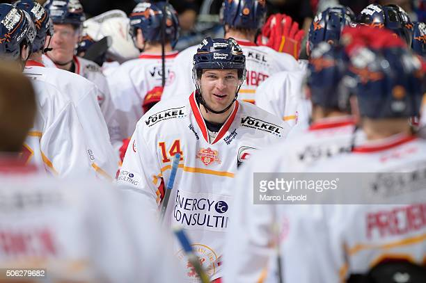 Norm Milley of the Duesseldorfer EG during the DEL game between the Eisbaeren Berlin and Duesseldorfer EG on January 22 2016 in Berlin Germany