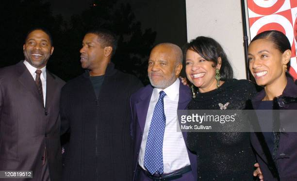 Norm Nixon Denzel Washington Berry Gordy Debbie Allen and Jada Pinkett Smith