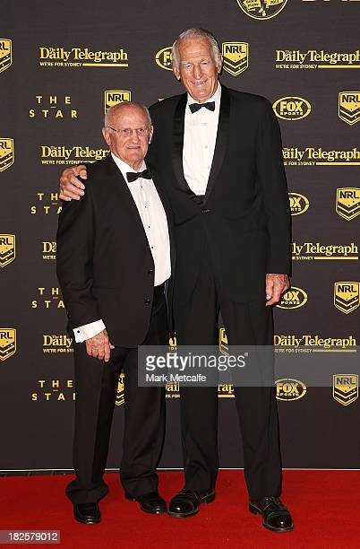 Norm Provan and Arthur Summons arrive ahead of the 2013 Dally M Awards at Star City on October 1 2013 in Sydney Australia