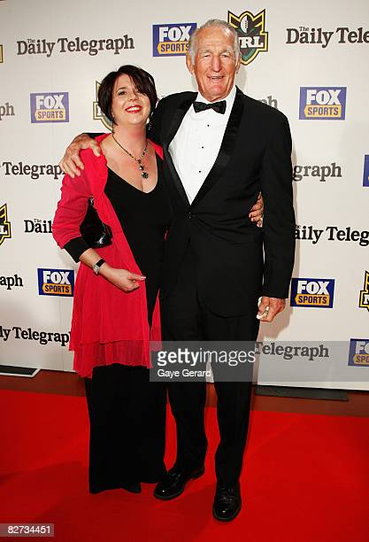 Norm Provan and Daughter Susanne Provan arrive at the 2008 Dally M Awards at the Hordern Pavilion in Sydney September 09 2008