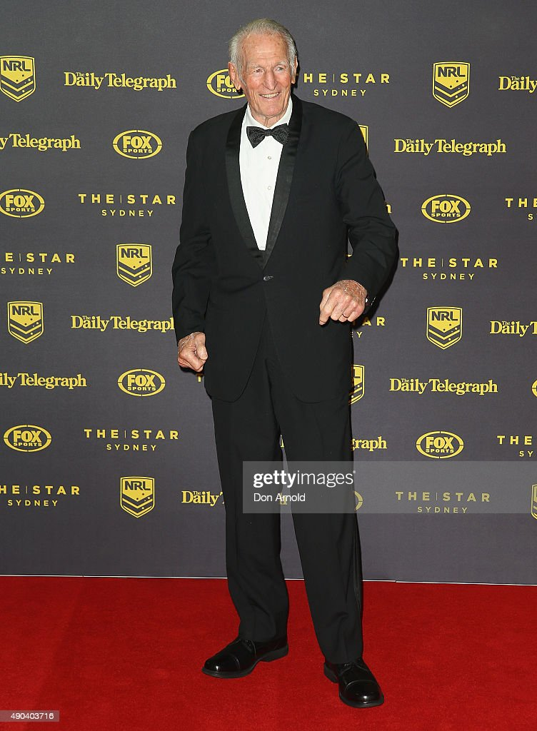 Norm Provan arrives at the 20145 Dally M Awards at Star City on September 28, 2015 in Sydney, Australia.