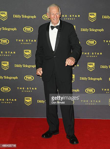 Norm Provan arrives at the 20145 Dally M Awards at Star City on September 28 2015 in Sydney Australia